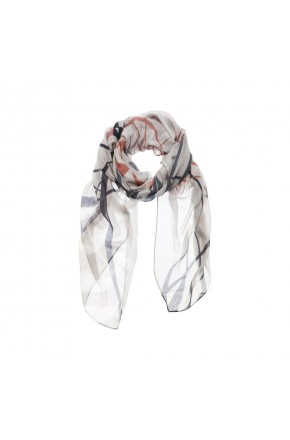 AIRY SCARF WITH BEAUTIFUL BIRD PRINT