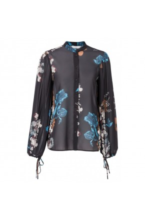 BLOUSE WITH PLISSE SLEEVES