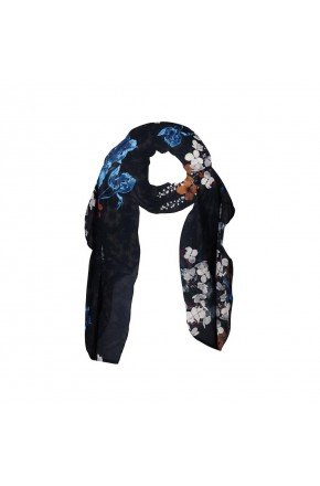 SCARF WITH BIG FLOWER