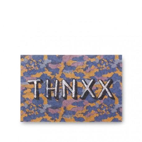 """POSTCARD """"THNXX"""""""