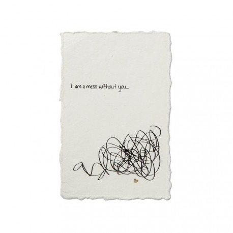 """POSTCARD """"WITHOUT YOU"""""""