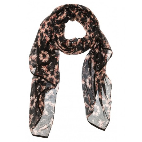 SCARF WITH SMALL FLOWERPRINT