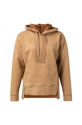 HOODED FAUX SWEATHER