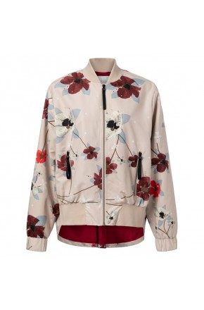 BOMBER FLOWER PRINTED
