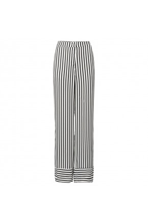 High waist striped loose fit trouser