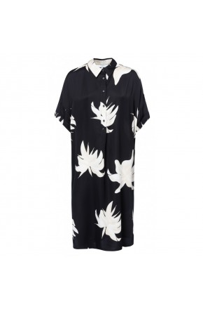 BLOUSE DRESS WITH JUNGLE FLOWER PRINT