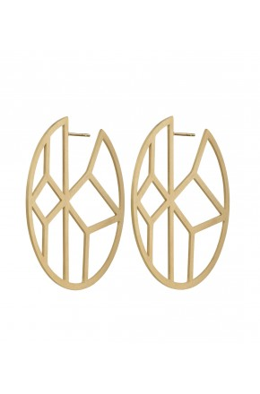 SHIRIN EARRINGS MATT GOLD
