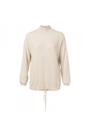 SWEATER WITH DRAWSTRING
