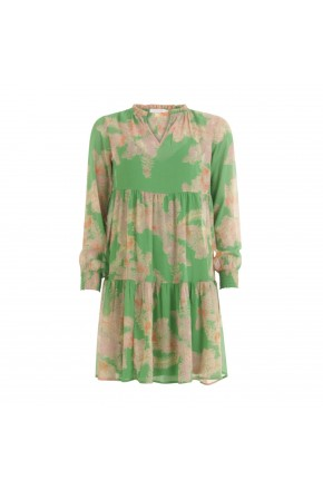 DRESS W. FRILL DETAIL AT NECK