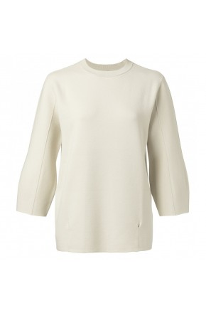 PUFFED SWEATER WITH SEAMLINES