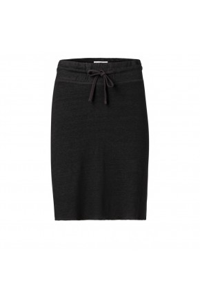 JERSEY LINEN SKIRT WITH LINING
