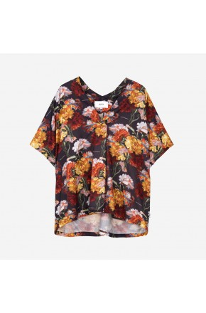 FLOWERS KAFTAN SHIRT