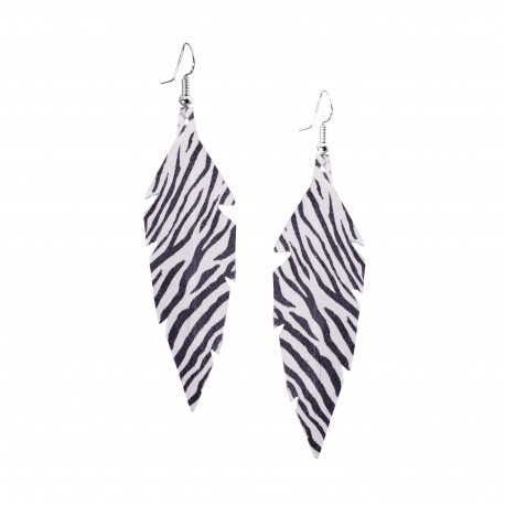MIDI ZEBRA EARRINGS