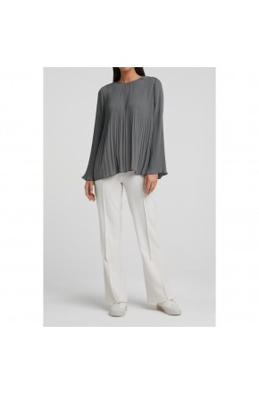 WOVEN TOP WITH PLEATS