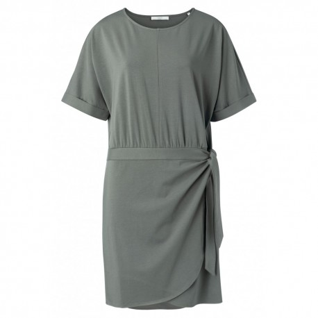 MODAL COTTON BLEND WRAP DRESS