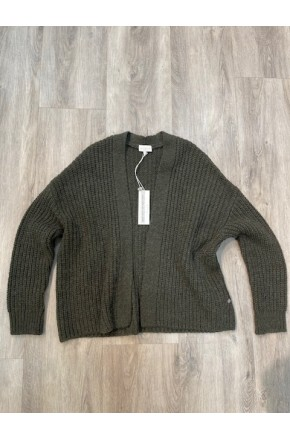 OPEN CARDIGAN WITH OVERLAPPING SHOULDER