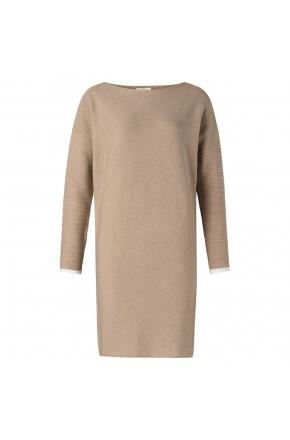 Mixing of rib stitch knitted dress