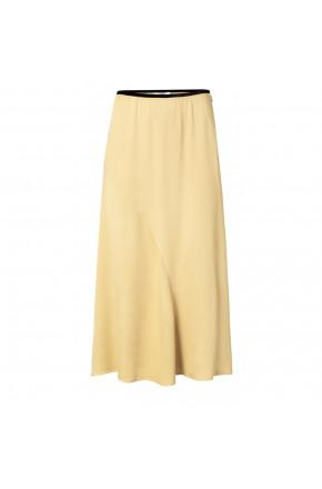 Satin A-line skirt