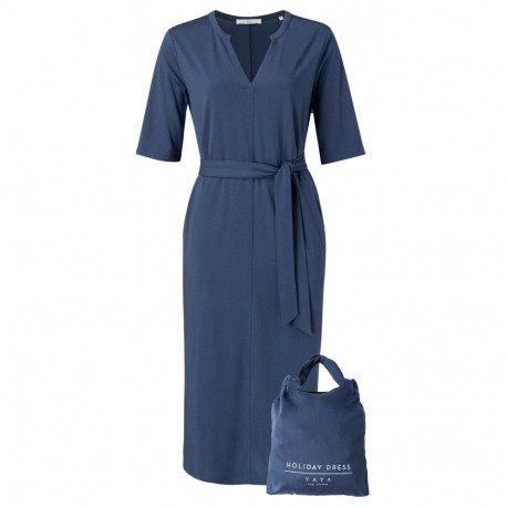 Jersey belted dress