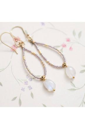 Enjoy Moonstone Gold Earrings