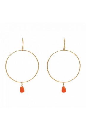 Embrace Carnelia Gold Earrings