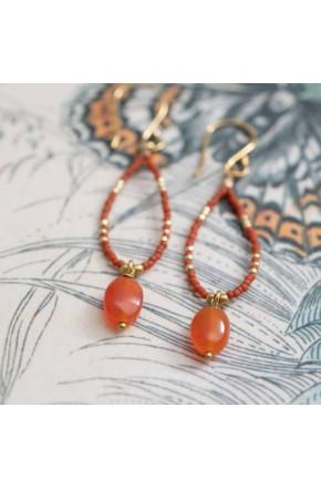 Enjoy Carnelia Gold Earrings