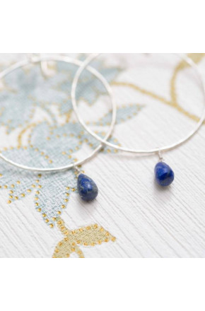 Embrace Lapis Lazuli Silver Earrings