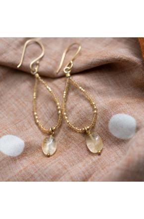 Enjoy Citrine Gold Earrings