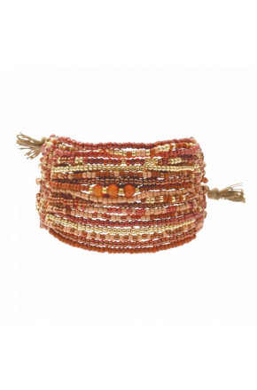 Brilliant Carnelian Gold Bracelet