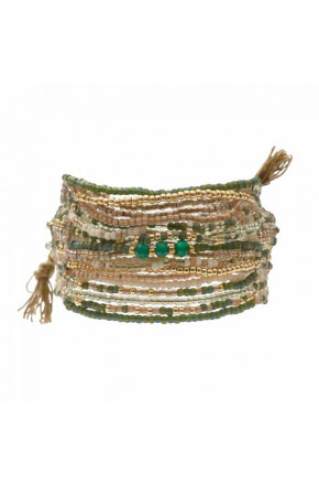 Brilliant Aventurine Gold Bracelet