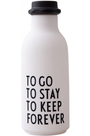 TO GO WATER BOTTLE white