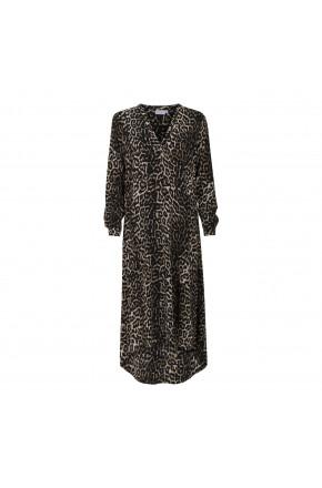 Dress in leopard print