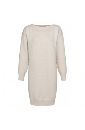 KNITTED DRESS WITH BOATNECK