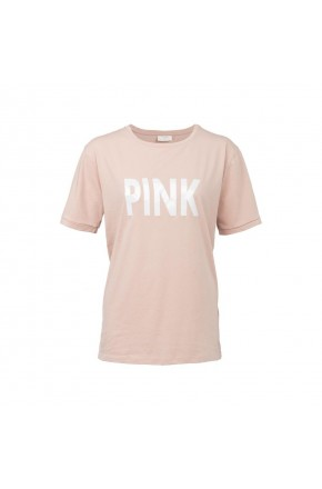 SS TEE WITH 'PINK' PRINT